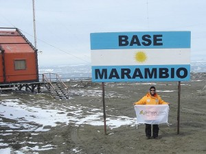 Guillermo Tornatore en Base Marambio, Antártida Argentina